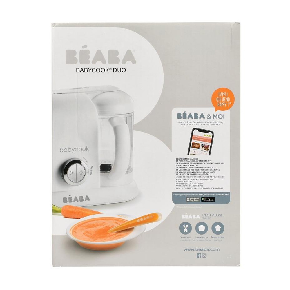 Пароварка- блендер Babycook Plus Beaba - white/silver - lebebe-boutique - 6