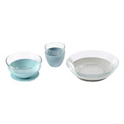 Набор детской посуды из стекла 3 предмета Beaba - голубой