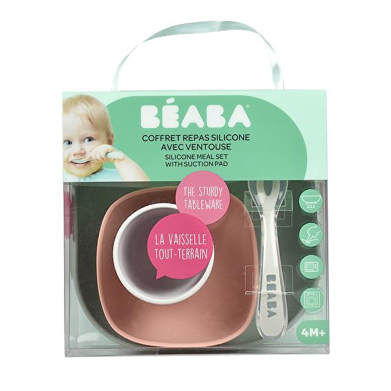 Набор силиконовой посуды Beaba 4 предмета - eucalyptus - lebebe-boutique - 3