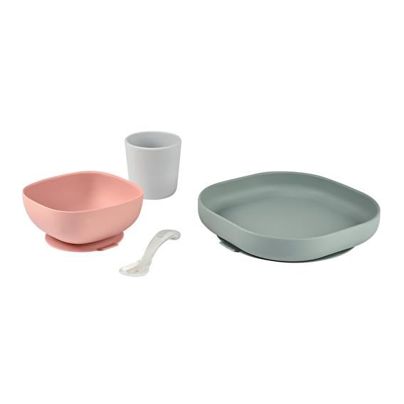 Набор силиконовой посуды Beaba 4 предмета - eucalyptus - lebebe-boutique - 4