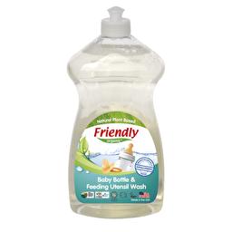 Органічний засіб для миття дитячої пляшечки, посуду і пустушок, без запаху Friendly Organic 739 мл F