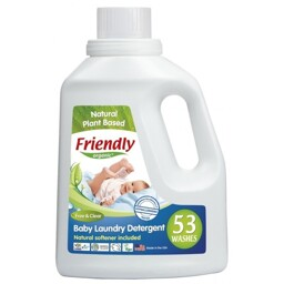 Жидкое средство для стирки детской одежды Friendly Organic без запаха 1567 мл, (53 стирки)