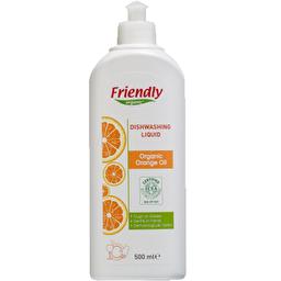 Органічний засіб для миття посуду Friendly Organic апельсинове масло 500 мл