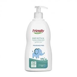 Органічний засіб для миття дитячої пляшечки, посуду та пустушок Friendly Organic без запаху 500 мл