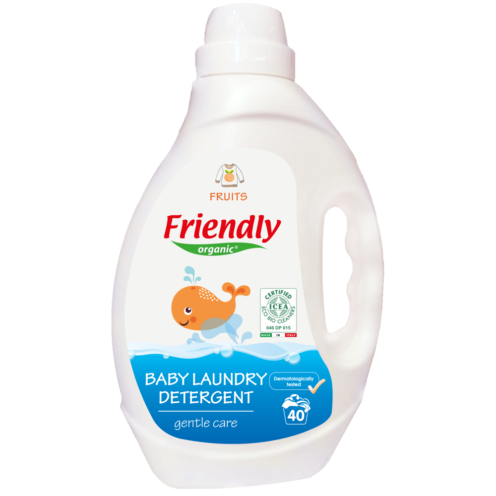 Органічний засіб для прання дитячої білизни Friendly organic фрукти 2000 мл