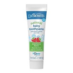 Зубная паста без содержания фтора с клубничным вкусом Dr Brown's
