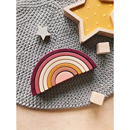 Деревянная игрушка Радуга-Балансир / Розовый SABO Concept