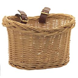 Велосипедная плетеная корзинка с кожаными ремнями для Trybike