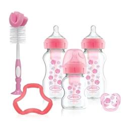 Подарунковий комплект: Антиколікова пляшечка для годування Option+ з широким горлечком 270 мл х 2 шт
