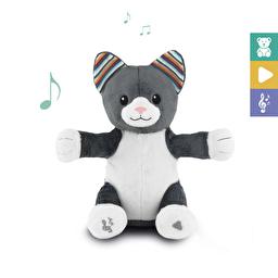 Мягкая игрушка с интерактивными хлопками и пением Котик CHLOE Zazu