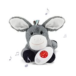 Мягкая игрушка с белым шумом, которая успокаивает новорожденного ребёнка DON (Ослик) Zazu