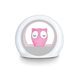 Нічник із звуковою активацією совеня LOU (рожевий) Zazu