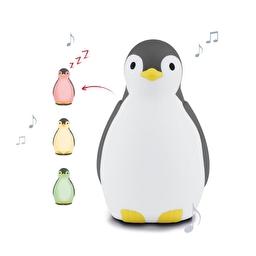 Светильник-ночник с блютузом и авто-отключением - пингвин PAM (ПЕМ) тренер сна (серый) Zazu
